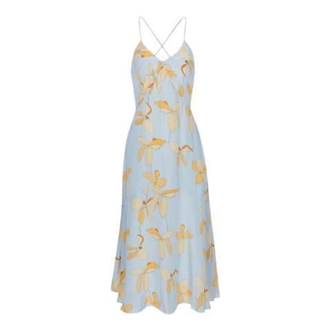 Reiss Blue Alli Floral Strappy Dress
