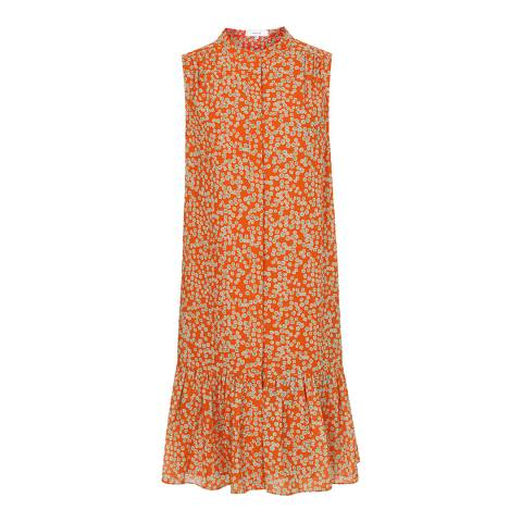 Reiss Coral Nia Spot Flippy Dress