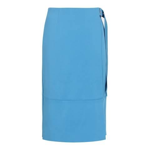 Reiss Blue Belle Wrap Skirt