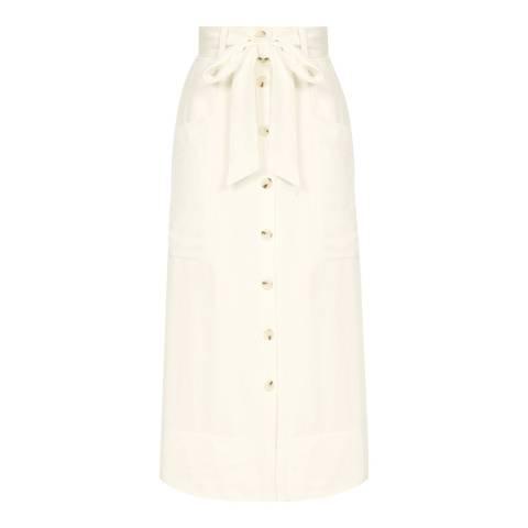 Reiss Off White Josephine Skirt