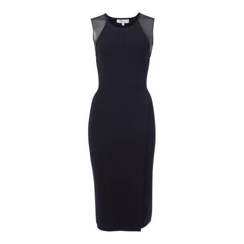 Reiss Navy Leila Knit Bodycon Dress