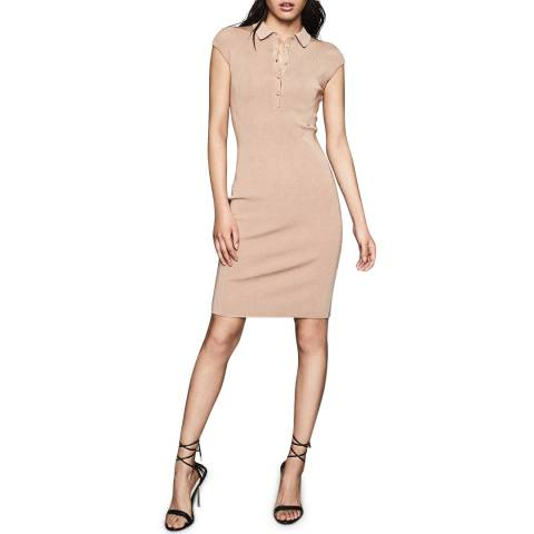 Reiss Nude Hailey Bodycon Dress