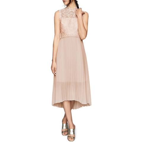 Reiss Nude Aideen Lace Dress