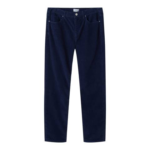 Jigsaw Blue Dalston Straight Cord Trousers