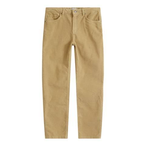 Jigsaw Camel Dalston Straight Leg Cord Trousers