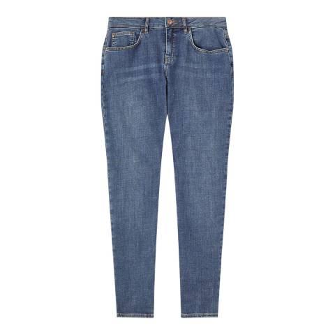 Jigsaw Mid Blue Super Soft Hampton Jeans