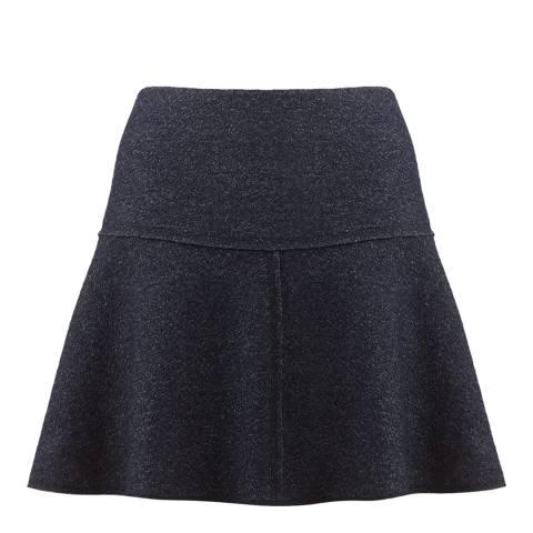 Jigsaw Navy Speckled Knit Flippy Skirt