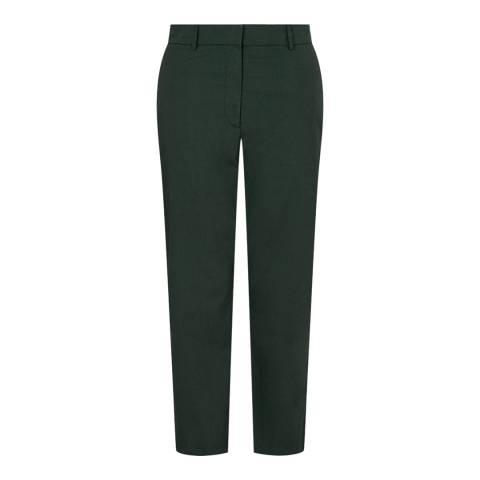 Jigsaw Green Poplin Crop Trousers