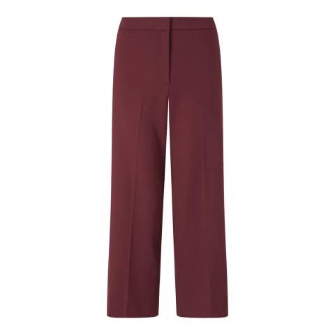 Jigsaw Purple Crop Straight Trousers