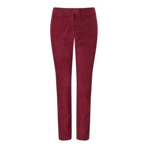 Jigsaw Red Cord Cigarette Trousers
