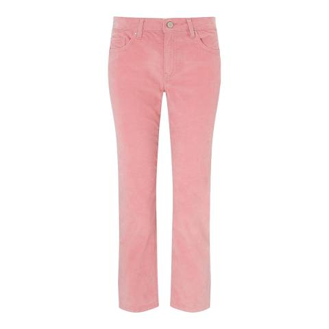 Jigsaw Pink Dalston Straight Cord Trousers