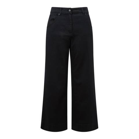 Jigsaw Black Hoxton Crop Flare Stretch Jeans