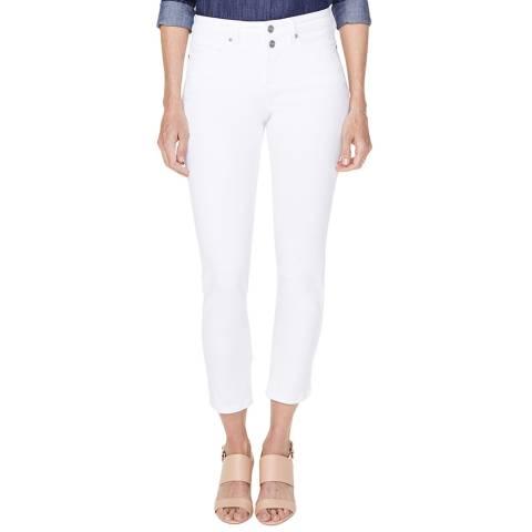 NYDJ White Sheri Slim Ankle Jeans