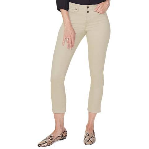 NYDJ Beige Sheri Slim Stretch Jeans