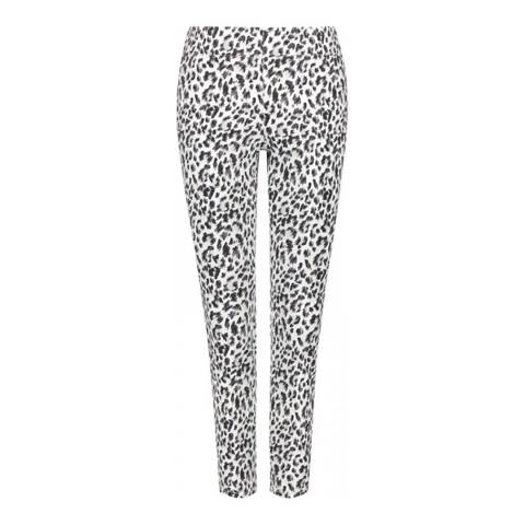 NYDJ Black/White Pull On Skinny Ankle Jeans
