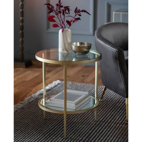 Gallery Hudson Side Table, Champagne