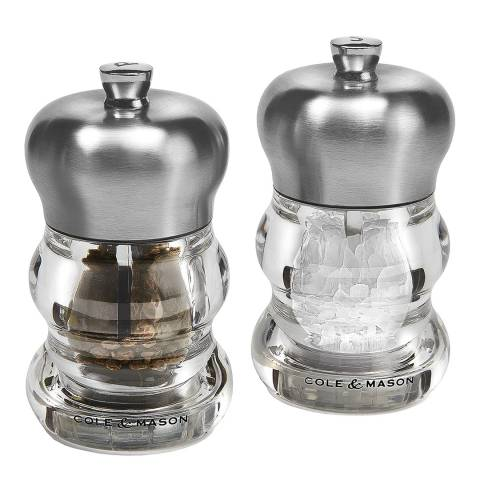 Cole & Mason Clear & Stainless Steel Ascot Gift Set, 10cm