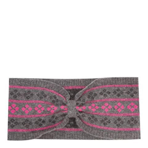 Laycuna London Grey/Pink Cashmere Headband