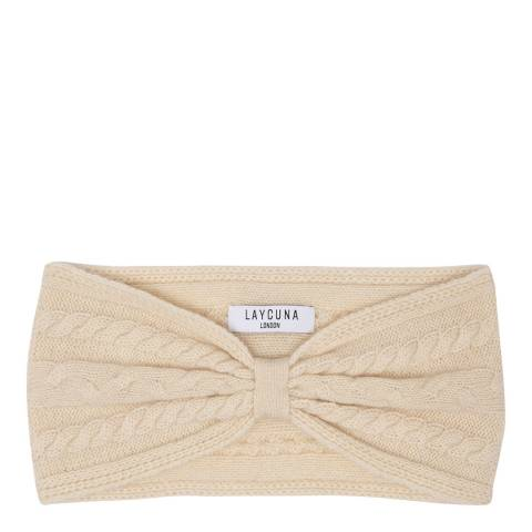 Laycuna London Cream Cashmere Headband