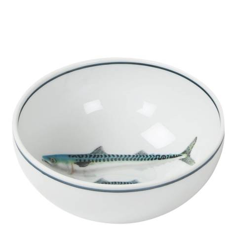 Jersey Pottery Set of 4 Small Mackerel Seaflower Bowls, 11cm