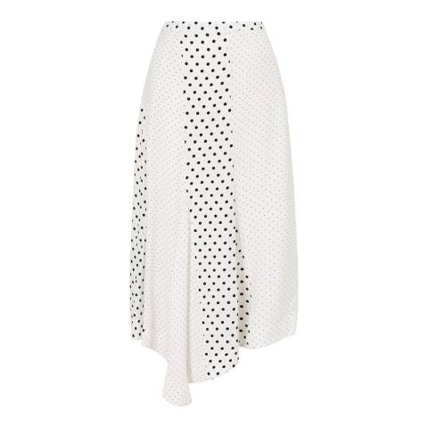 Jigsaw Ivory Spot Asymmetric Skirt