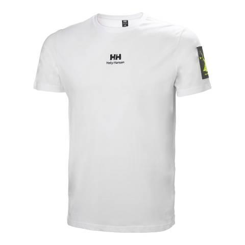 Helly Hansen White YU Twin Logo T-Shirt
