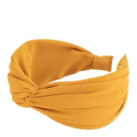 Caroline Gardner Yellow Wide Twist Hairband