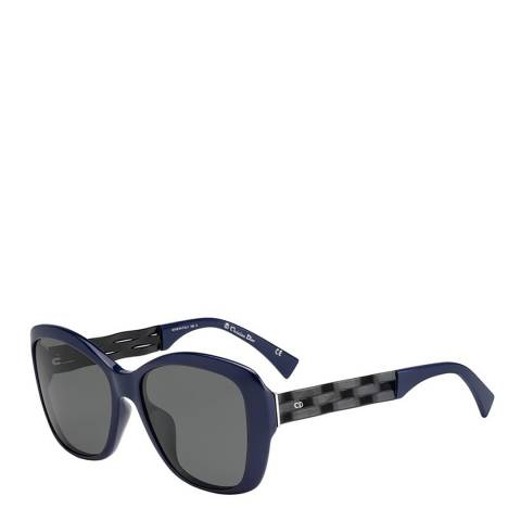 Dior Women's Blue/Black Dior Sunglasses 57mm