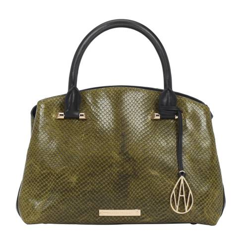 Amanda Wakeley Khaki The Midi Hardy Tote
