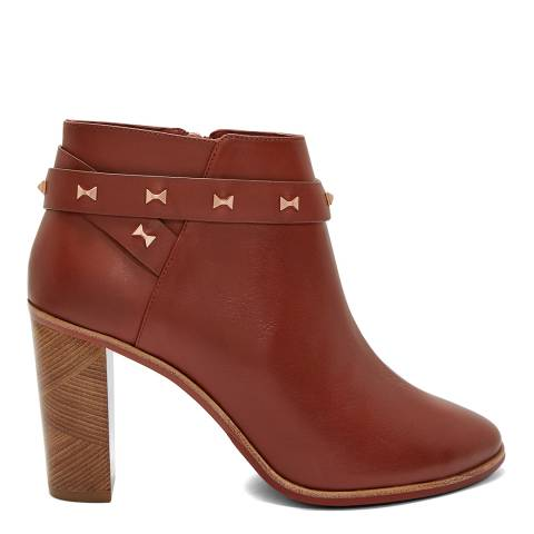 Ted Baker Brown Leather Dotta Ankle Boots
