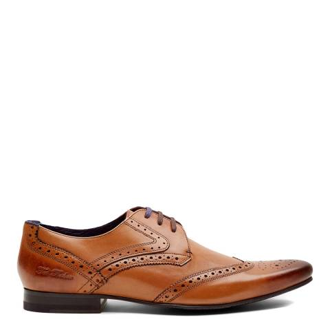 Ted Baker Brown Hann 2 Leather Derby Brogue Shoes