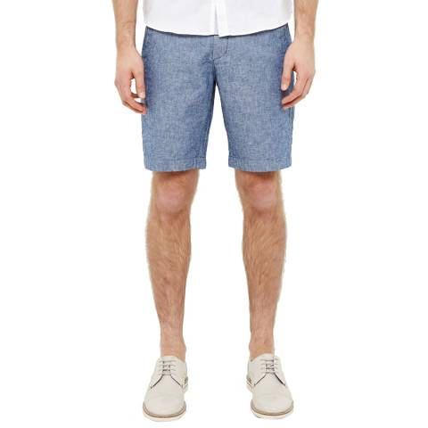 Ted Baker Blue Linsho Linen Chino Short