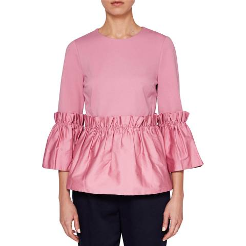 Ted Baker Dusty Pink Sherrly Crop Sleeve Top