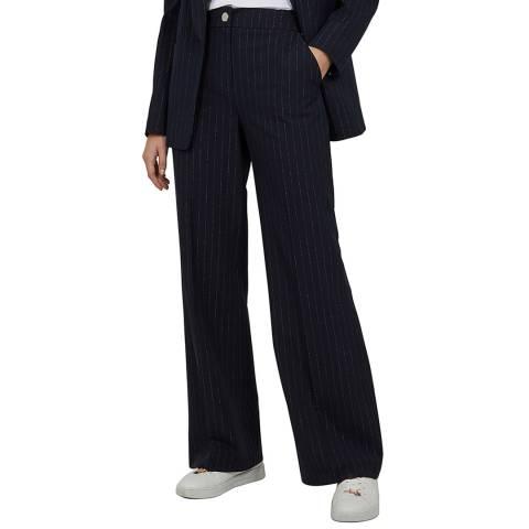 Ted Baker Navy Eevettt Flared Tailored Trouser
