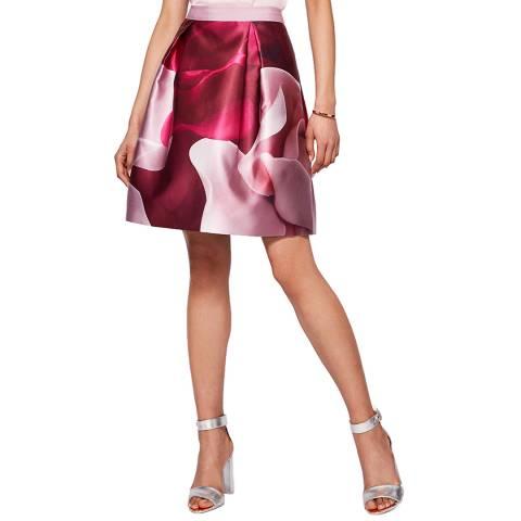 Ted Baker Maroon Nell Rose Full Skirt