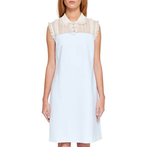 Ted Baker Pale Blue Kyilee Frill Detailed Tunic