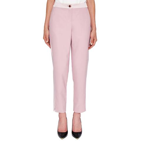 Ted Baker Dusty Pink Fionna Panel Tapered Trouser