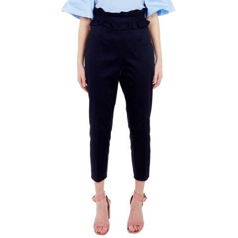 Ted Baker Navy Saleana Ruffle Waist Trouser