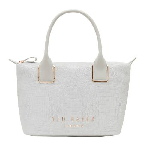 Ted Baker Light Grey Exotic Small Reflective Tote