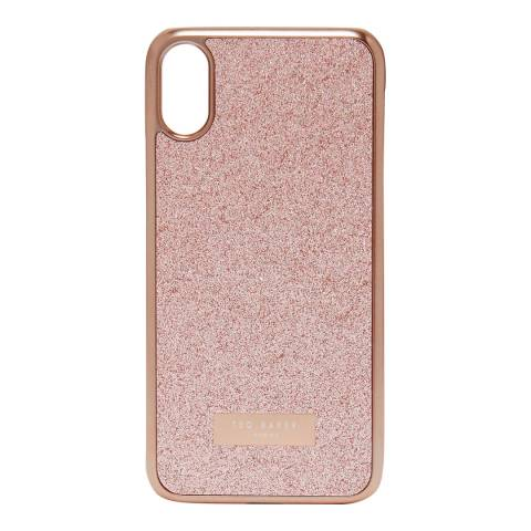Ted Baker Pink Glitter Clip iPhone Case