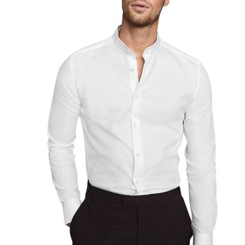 Reiss White Surge Slim Cotton Shirt