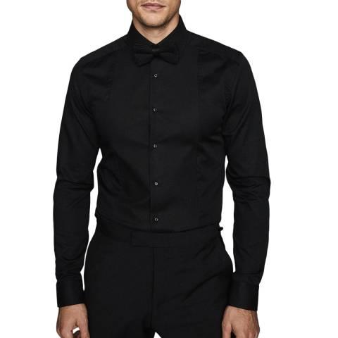 Reiss Black Marcel Dinner Slim Cotton Shirt