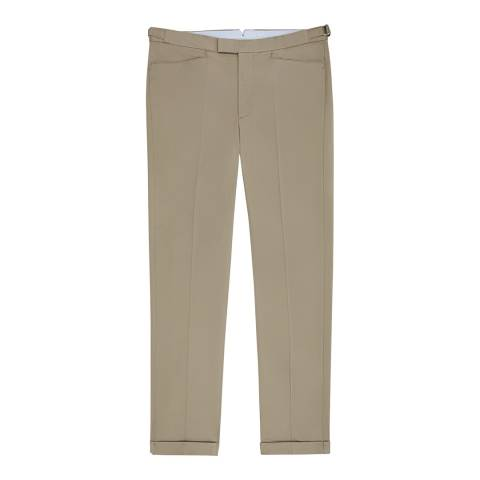 Reiss Taupe Shank Slim Stretch Suit Trousers