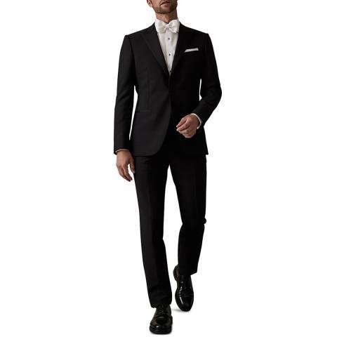 Reiss Black Mayfair Wool Blend Suit