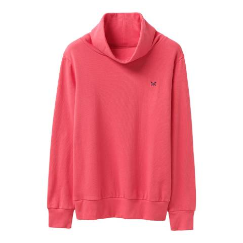 Crew Clothing Pink Cowl Neck Top