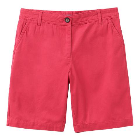 Crew Clothing Red Chino Cotton Shorts