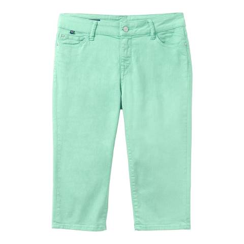 Crew Clothing Green Murray Crop Jeans