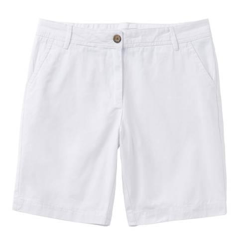Crew Clothing White Chino Short