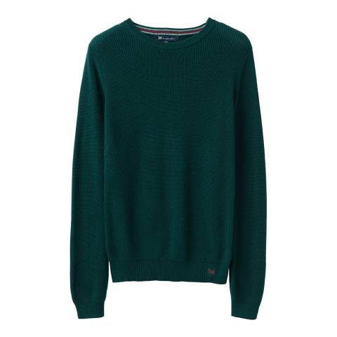 Crew Clothing Green Cable Fishermans Jumper