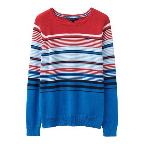 Crew Clothing Red/Blue Engineered Stripe Jumper